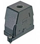 Han 10B HPR hood, top entry, 1xM25, screw locking