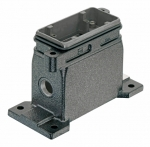 Han 10B HPR surface mounted housing, side entry, 1xM20, screw locking