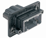 Han 10B HPR panel feed through housing, for mounting from outside, top entry, 1xM40, screw locking
