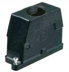 Han 16B HPR hood, top entry, 1xM40, screw locking