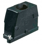 Han 16B HPR hood, top entry, 1xM50, screw locking