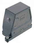 Han 16B HPR hood, side entry, 1xM20, screw locking