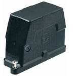 Han 16B HPR hood, side entry, 1xM40, screw locking