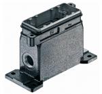 Han 16B HPR surface mounted housing, side entry, 1xM25, screw locking