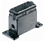 Han 16B HPR surface mounted housing, side entry, 1xM32, screw locking