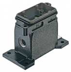 Han 16B HPR surface mounted housing, side entry, 1xM40, screw locking