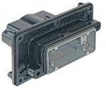 Han 16B HPR panel feed through housing, for mounting from inside, top entry, 1xM50, screw locking