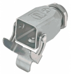 Han-INOX hood, side entry, 1xM20, single locking lever
