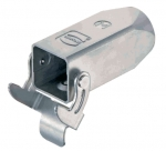Han 3A INOX cable to cable housing, top entry, 1xM20, single locking lever
