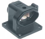Han 3 HPR surface mounted housing, bottom closed, feed through hole for fixing screws, top entry, 1xM20