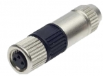 HARAX M8-S female connector straight 3 poles