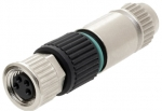 HARAX M8-S female connector straight 4 poles