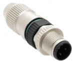 Harax Male Circular Connector M12-S 3-pole straight