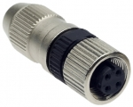 HARAX M12-S female connector straight 4 poles
