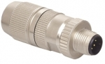 HARAX M12-L male connector shielded 4 poles A-coded