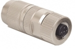 HARAX M12-L female connector shielded 4 poles A-coded