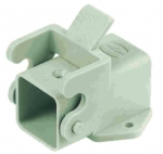 Han 3A surface mounted housing, angled, grey