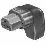 Vollgummi-Winkel-Gerätedose nach EN 60320, VDE 0625, C21