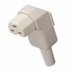 Duroplastic appliance socket like VDE 0625 / EN 60320 / C21, angled