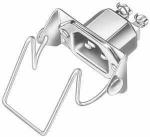 Metall-Geräte-Einbaustecker mit Sicherheitsbügel