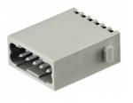 Han DD quick lock male insert, 0,25-1,5mm², silver plated