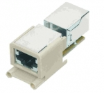 Han-Brid RJ45 panel feed through straight