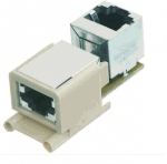 Han-Brid RJ45 panel feed through angled