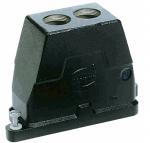 Han 16B HPR hood, top entry, 2xM25, screw locking