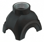 Han-Yellock 30 shell, push button, top entry, 1xM25