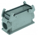 Han 24B surface mounted housing, side entry, 1xM32, double locking lever, high construction
