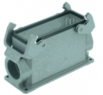 Han 24B surface mounted housing, side entry, 2xM32, double locking lever, high construction