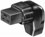 solid rubber appliance socket, angled like VDE 0625 / EN 60 320 / C19