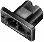 Thermoplasticbuild-in plug like VDE 0625 / EN 60320 / C16