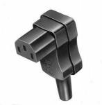 Thermoplast-Winkel-Gerätesteckdose nach VDE 0625, EN 60 320, C13 / C14