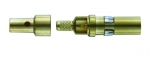 coaxial pin contact, male, 50 Ω acc. to DIN 41626