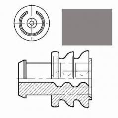 Einzeladerdichtung grau für Leitungs-DM 1,2-2,0mm, Kammer-DM 5,4mm