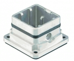 Han-Yellock 10 housing bulkhead mount, straight
