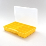 Assortment Plastic Case, 10 trays, yellow, empty