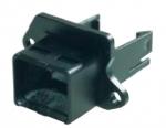 Han PushPull Anbaugehäuse Compact mit Halteclip, mit Flachdichtung