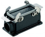 Han M 16B surface mounted housing, side entry, 1xM25, double locking lever