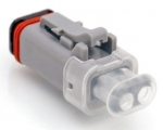 Amphenol Plug Housing 2-pole AT-Series with 12V LED, white