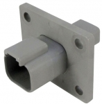 DEUTSCH Receptacle Housing 2-pole DT-Series with Flange