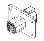 DEUTSCH Receptacle Housing 6-pole DT-Series with Flange