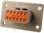 DEUTSCH Receptacle Housing 12-pole DTM-Series A-Coding with Flange