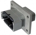 DEUTSCH Receptacle Housing 12-pole DTM-Series B-Coding with Flange