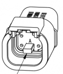 DEUTSCH Receptacle Housing 4-pole DTMH-Series, coding A