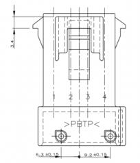 AMP JPT Flachsteckergehäuse 4-polig, grau, Kodierung B