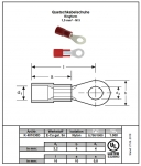 PA insulated Solderless terminals ring-type red, A3-1