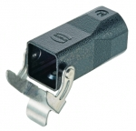 Han M 3A cable to cable housing, top entry, 1xM25, single locking lever